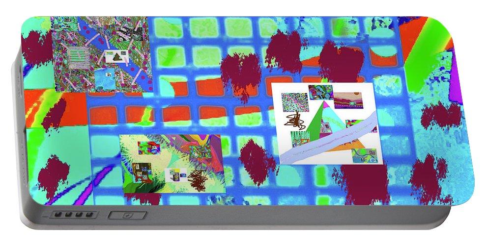 Walter Paul Bebirian Portable Battery Charger featuring the digital art 4-18-2015cabcdefghijklmn by Walter Paul Bebirian