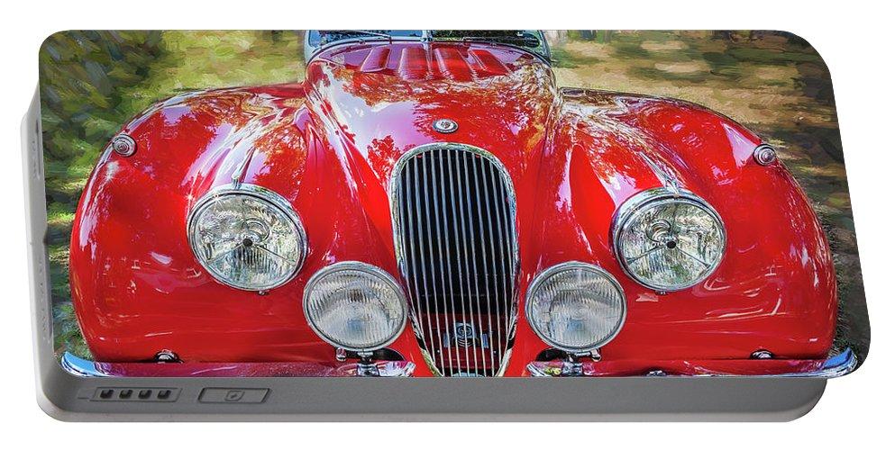 1954 Jaguar Portable Battery Charger featuring the photograph 1954 Jaguar Xk 120 Se Ots by Rich Franco