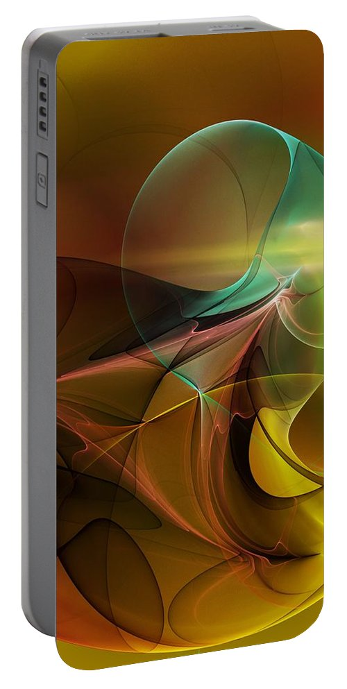 Digital Painting Portable Battery Charger featuring the digital art 4-3-10aa by David Lane