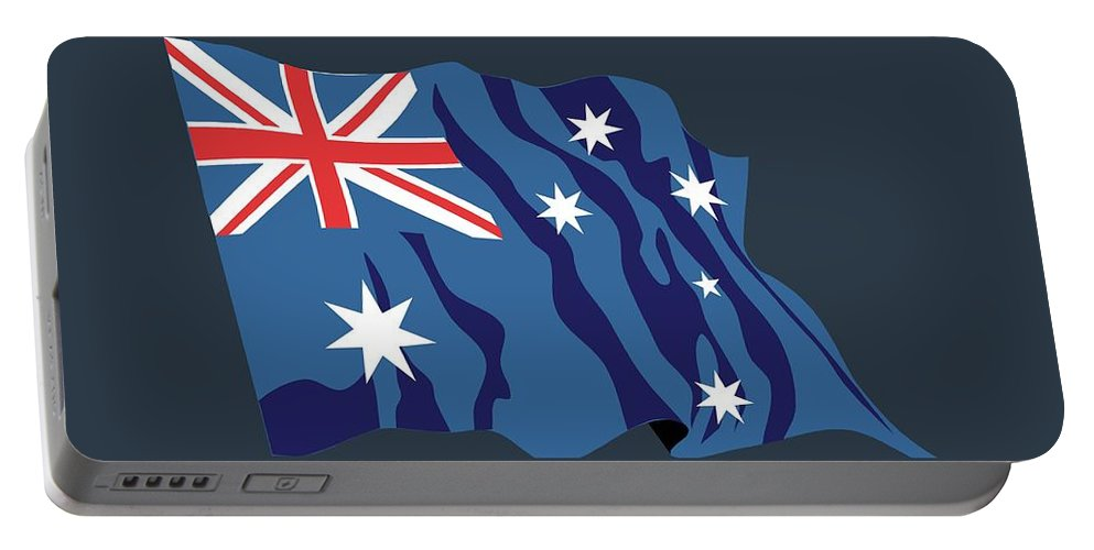 Australia Portable Battery Charger featuring the digital art Australia Flag by Frederick Holiday