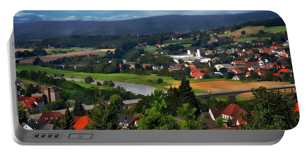 Valley Portable Battery Charger featuring the photograph Bavarian Landscape by Anthony Dezenzio
