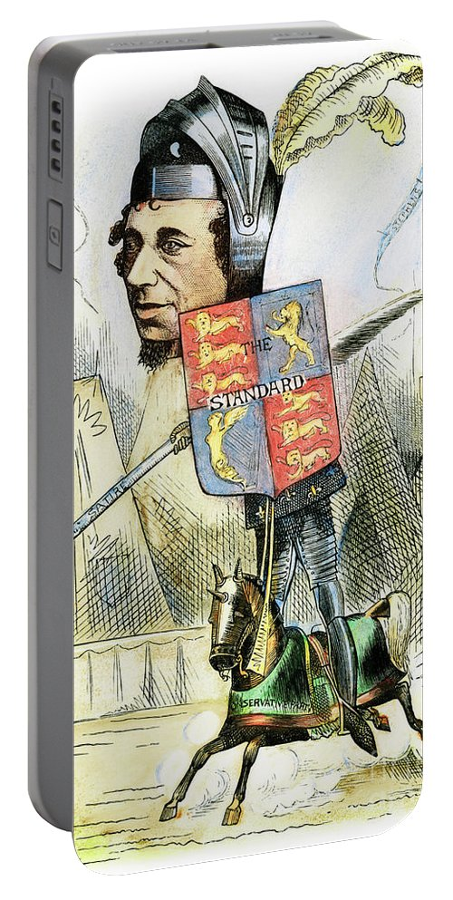 19th Century Portable Battery Charger featuring the drawing Benjamin Disraeli by Granger