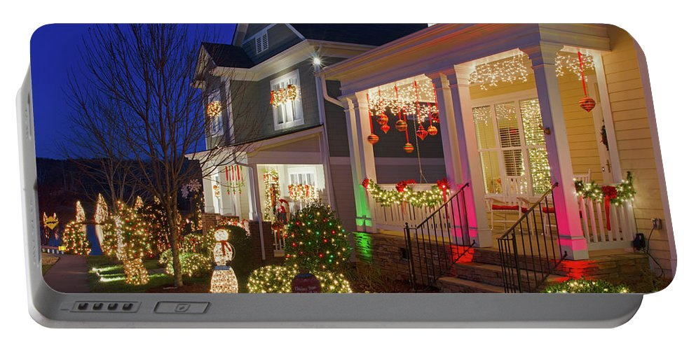 Mcadenville Portable Battery Charger featuring the photograph Christmas Village by Craig McCausland
