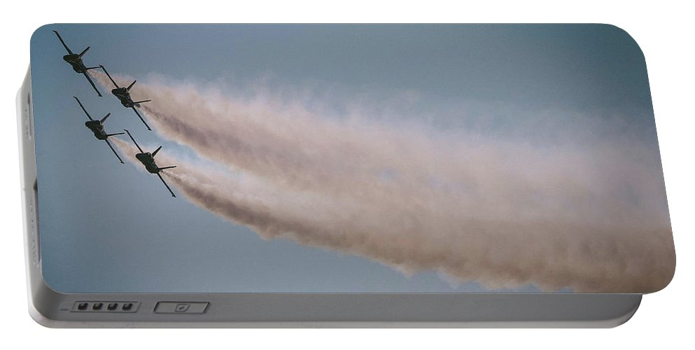 Portable Battery Charger featuring the photograph 4 Clouds Of Smoke by Shaun Samuels
