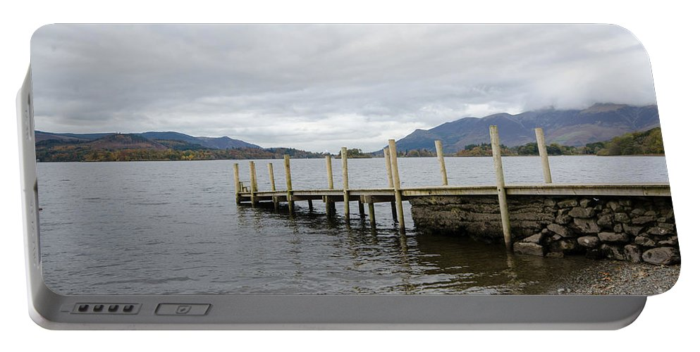 Lake Portable Battery Charger featuring the photograph Derwentwater by Smart Aviation