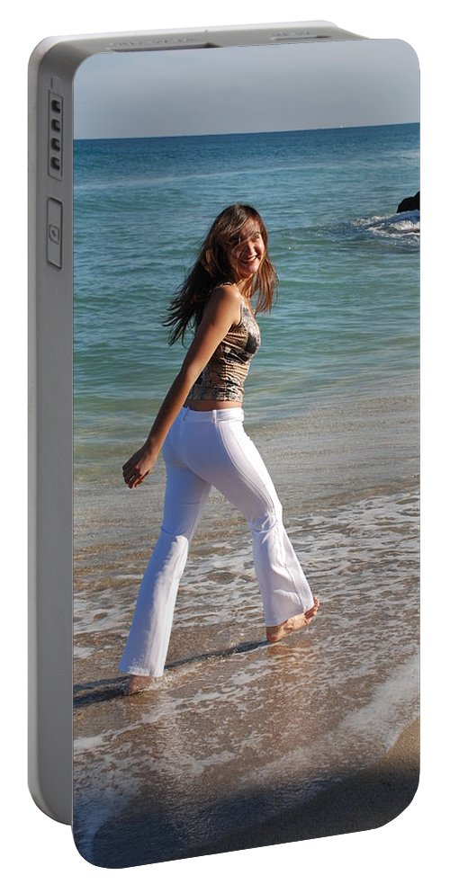 Women Portable Battery Charger featuring the photograph Gisele by Rob Hans