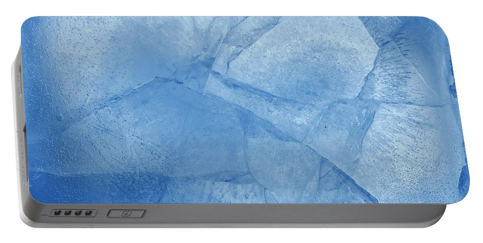 Ice Background Portable Battery Charger featuring the photograph Ice by Les Cunliffe