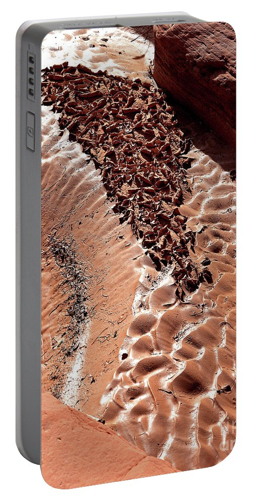 Light Portable Battery Charger featuring the photograph Light And Shadow In Mud by Frank Carter