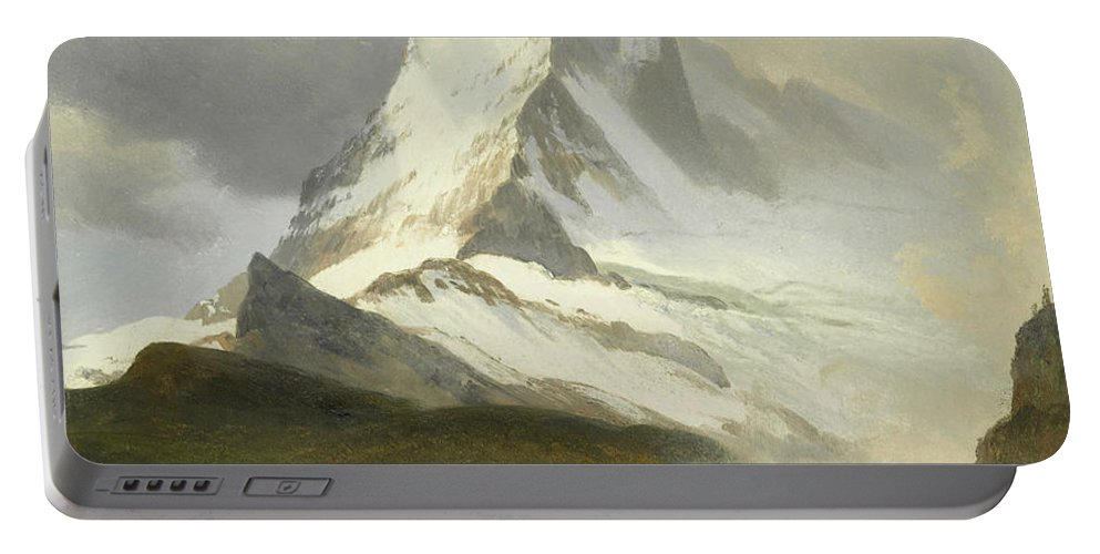 American Art Portable Battery Charger featuring the painting Matterhorn by Albert Bierstadt