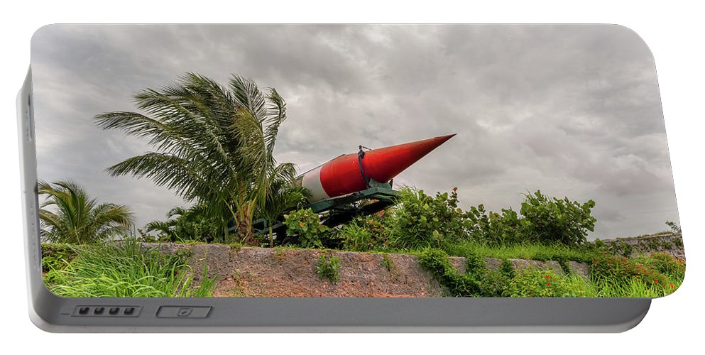 Weapons Portable Battery Charger featuring the photograph Military Weapons, Ballistic, Anti-aircraft, Medium-range Missile 5 by Viktor Birkus