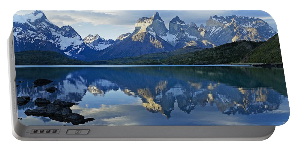 Patagonia Portable Battery Charger featuring the photograph Patagonia Reflection by Michele Burgess