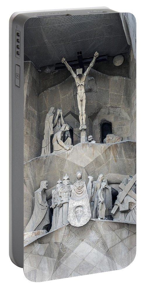 Barcelona Portable Battery Charger featuring the photograph Sagrada Familia - Gaudi Designed - Barcelona Spain by Jon Berghoff