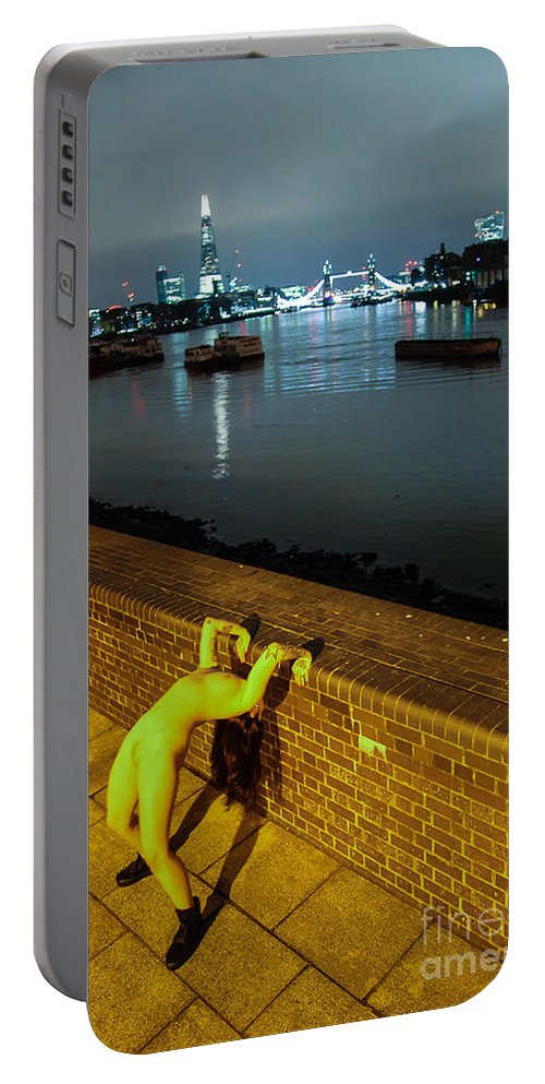 Fine Art Nude Portable Battery Charger featuring the photograph Shay Hendrix by Nocturnal Girls