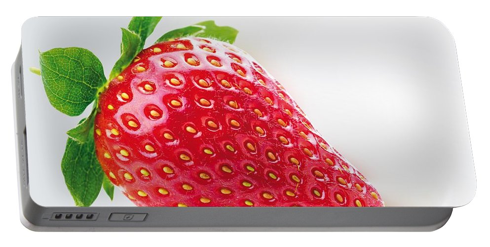 Strawberries Portable Battery Charger featuring the photograph Strawberry by FL collection