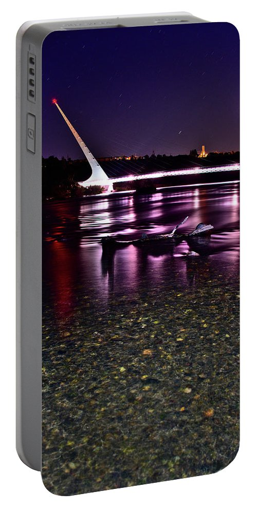 Sundial Bridge Portable Battery Charger featuring the photograph Sundial Bridge 1 by Matthew Battisti