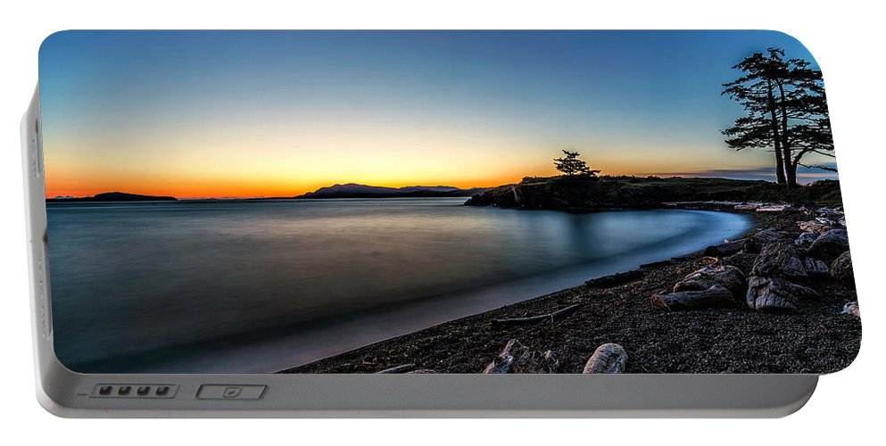 Friday Harbor Washington Portable Battery Charger featuring the photograph Sunrise by Thomas Ashcraft