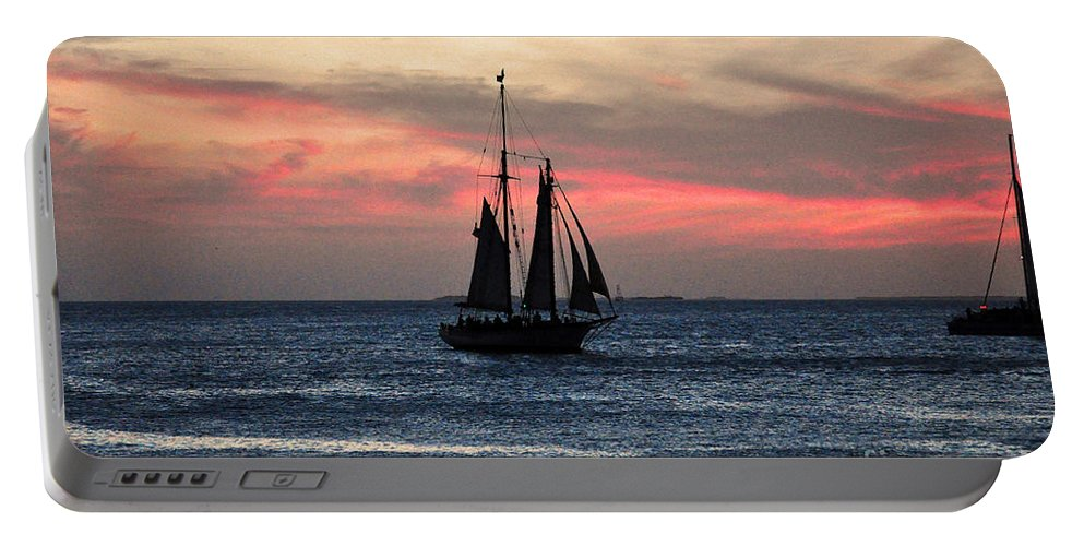 Key West Florida Portable Battery Charger featuring the photograph Sunset Key West by Davids Digits