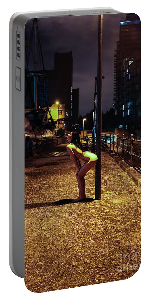 Fine Art Nude Portable Battery Charger featuring the photograph Tasha Holz by Nocturnal Girls