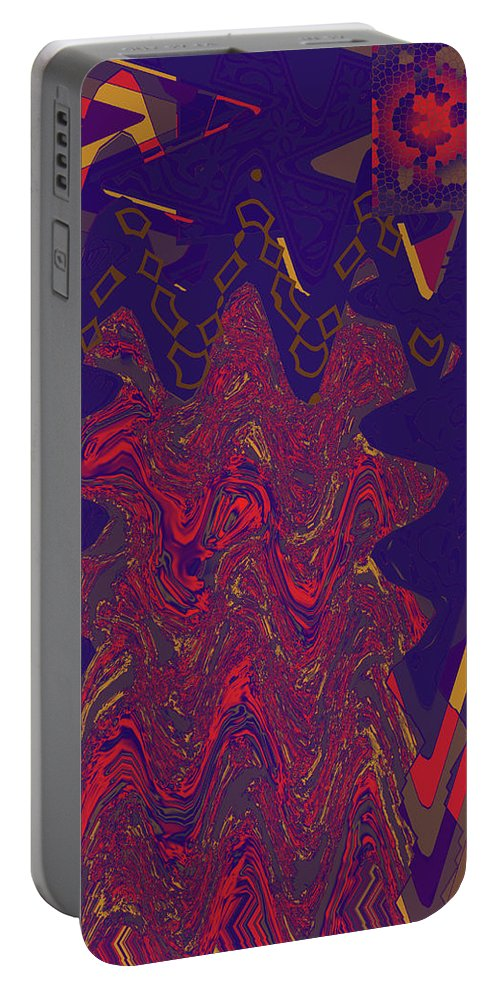 Abstract Portable Battery Charger featuring the digital art 4 U 273 by John Saunders