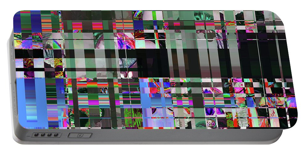 Abstract Portable Battery Charger featuring the digital art 4 U 343 by John Saunders