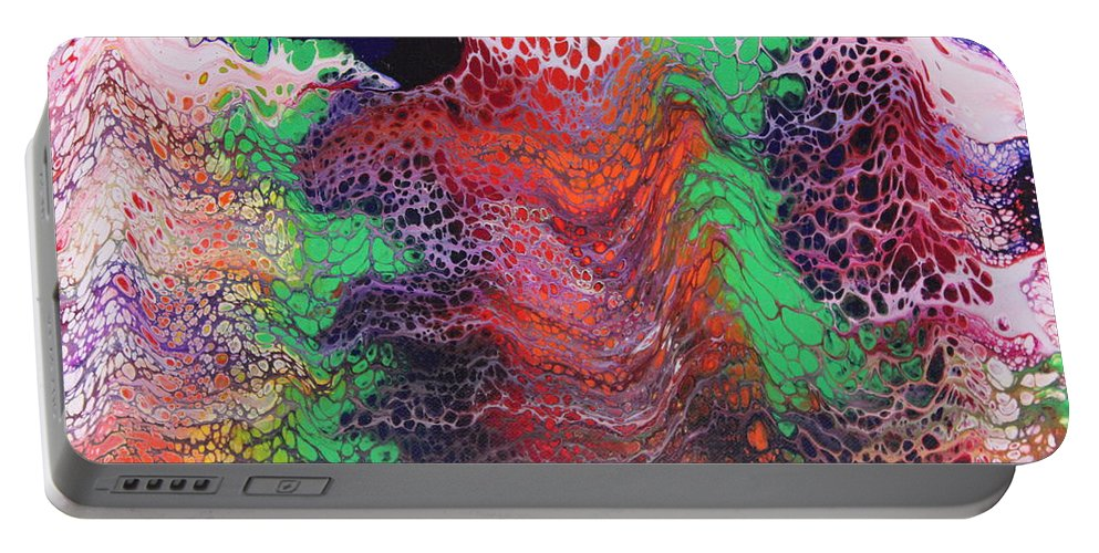 Portable Battery Charger featuring the painting Untitled by Joe Fomby