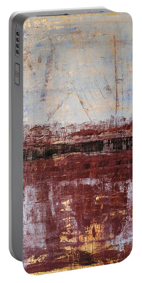 Rothko Portable Battery Charger featuring the painting Untitled No. 2 by Julie Niemela