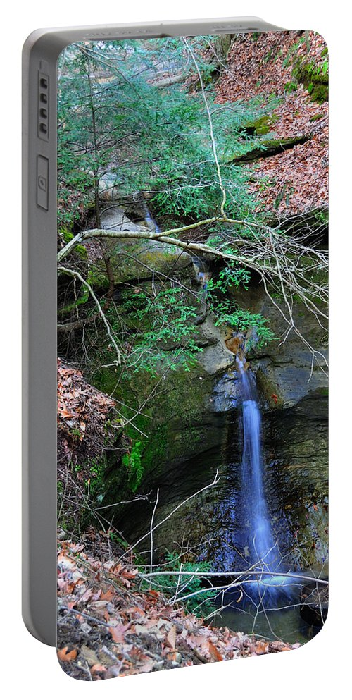 Indiana Portable Battery Charger featuring the photograph Waterfall by David Arment