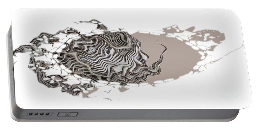 Abstract Portable Battery Charger featuring the digital art 401k by Ron Bissett