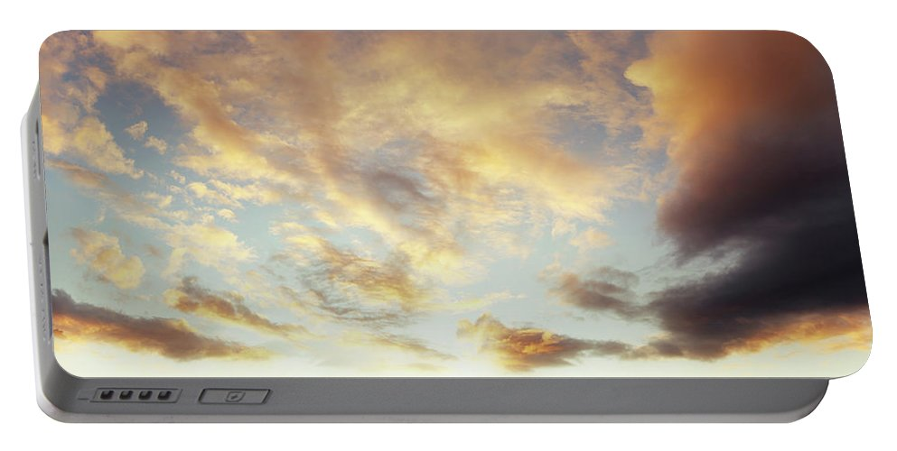 Bright Portable Battery Charger featuring the photograph Summer Sky 1 by Les Cunliffe