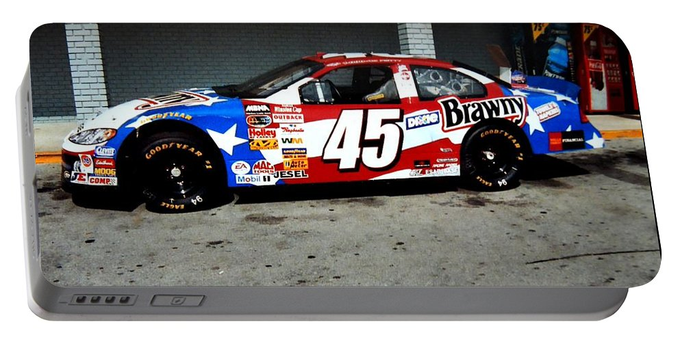 Race Car's Portable Battery Charger featuring the photograph #45 by Kathy R Thomas