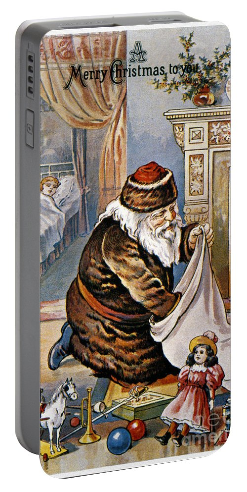 19th Century Portable Battery Charger featuring the photograph American Christmas Card by Granger