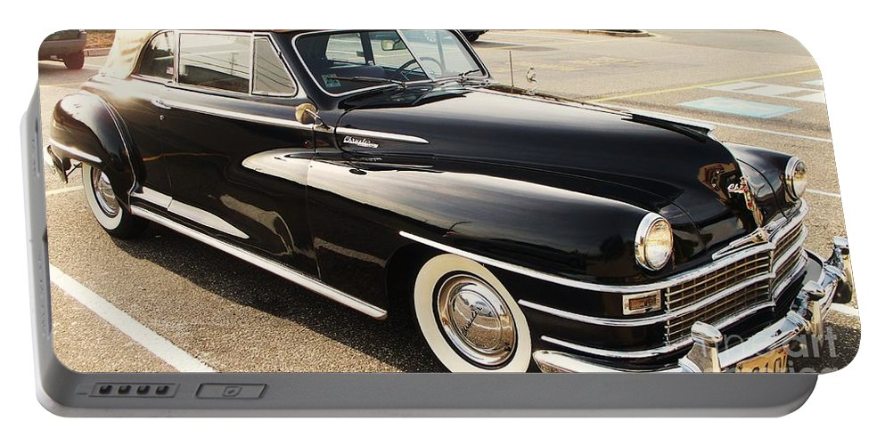 Automobile Portable Battery Charger featuring the painting 47 Packard by Eric Schiabor