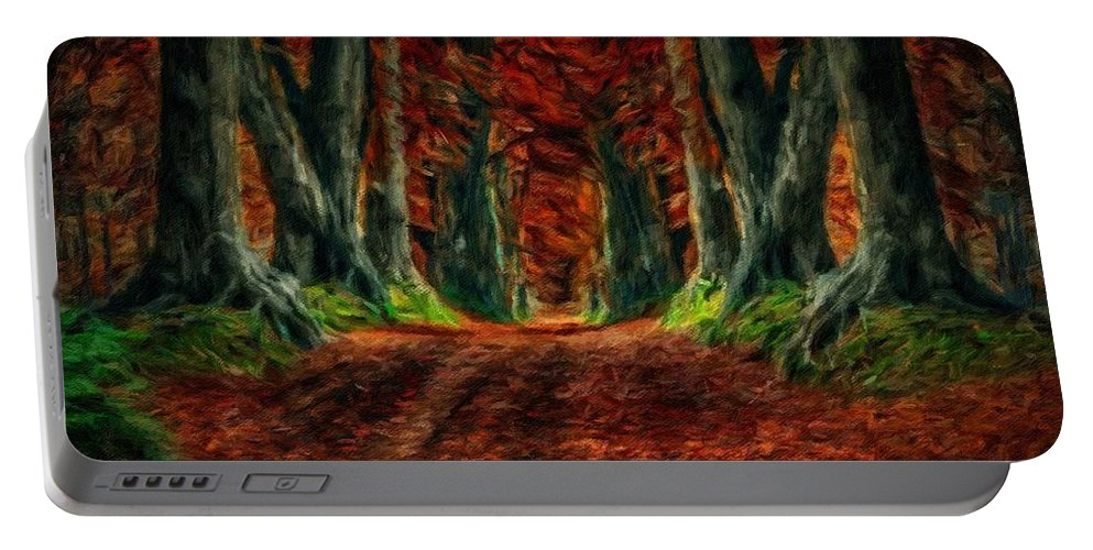 P Portable Battery Charger featuring the digital art Landscape Wall Art by Malinda Spaulding