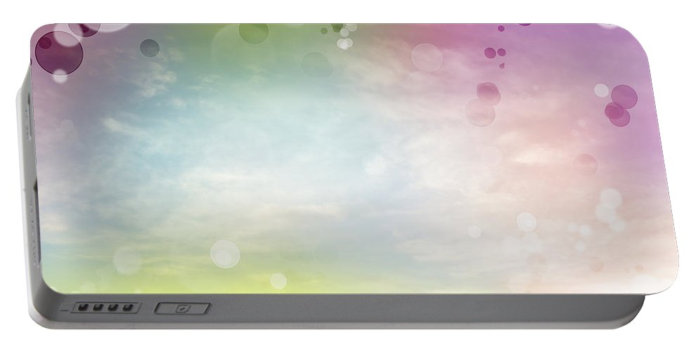 Background Portable Battery Charger featuring the digital art Abstract Background by Les Cunliffe
