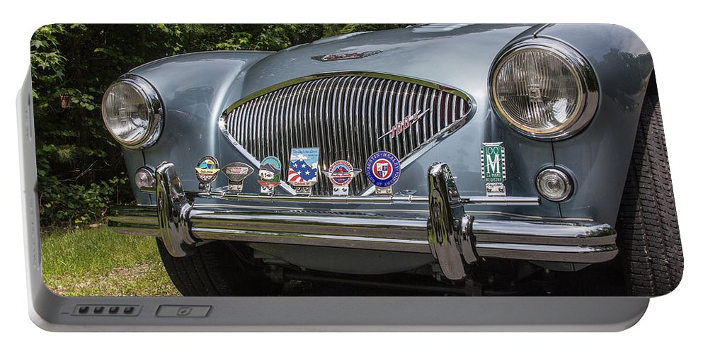 56 Portable Battery Charger featuring the photograph 1956 Austin Healey 100-4 M by Robert Kinser