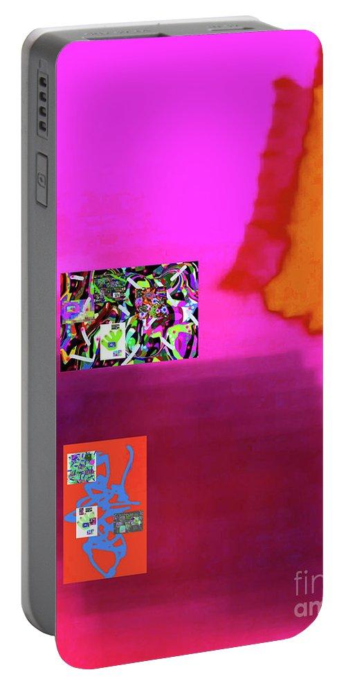 Walter Paul Bebirian Portable Battery Charger featuring the digital art 5-5-2015da by Walter Paul Bebirian