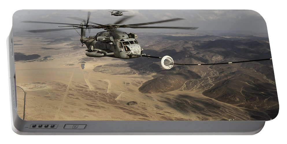Horizontal Portable Battery Charger featuring the photograph A U.s. Marine Corps Ch-53e Super by Stocktrek Images