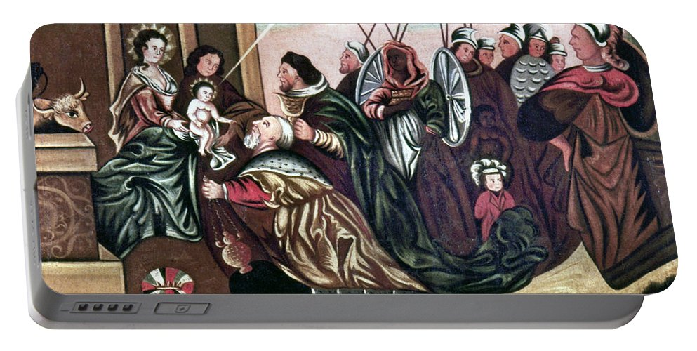 18th Century Portable Battery Charger featuring the photograph Adoration Of The Magi by Granger