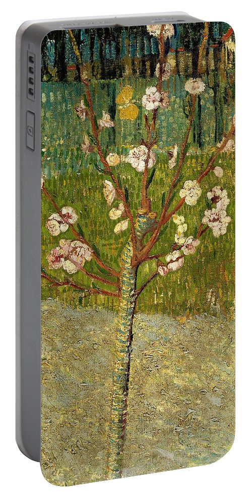 Dutch Portable Battery Charger featuring the painting Almond Tree In Blossom by Vincent van Gogh