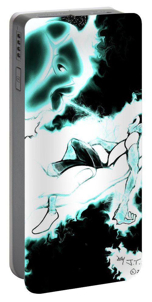 Portable Battery Charger featuring the drawing Breath Of Life by Javon Dixon