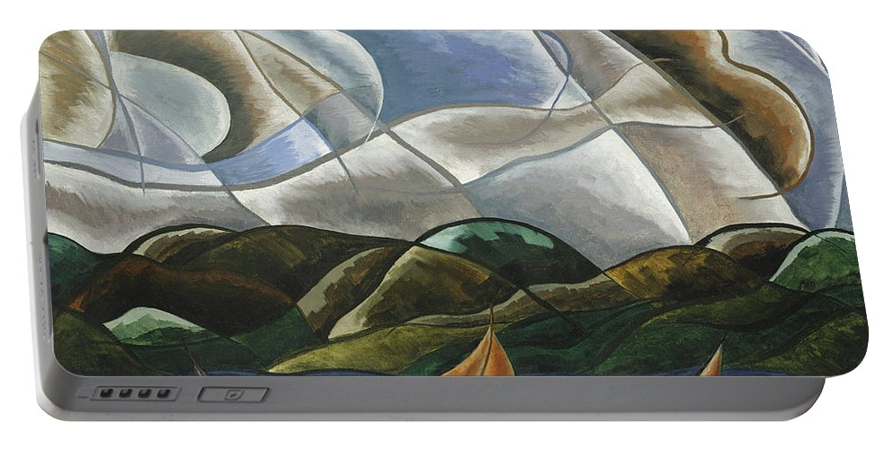 Clouds And Water Portable Battery Charger featuring the painting Clouds And Water by Arthur Dove