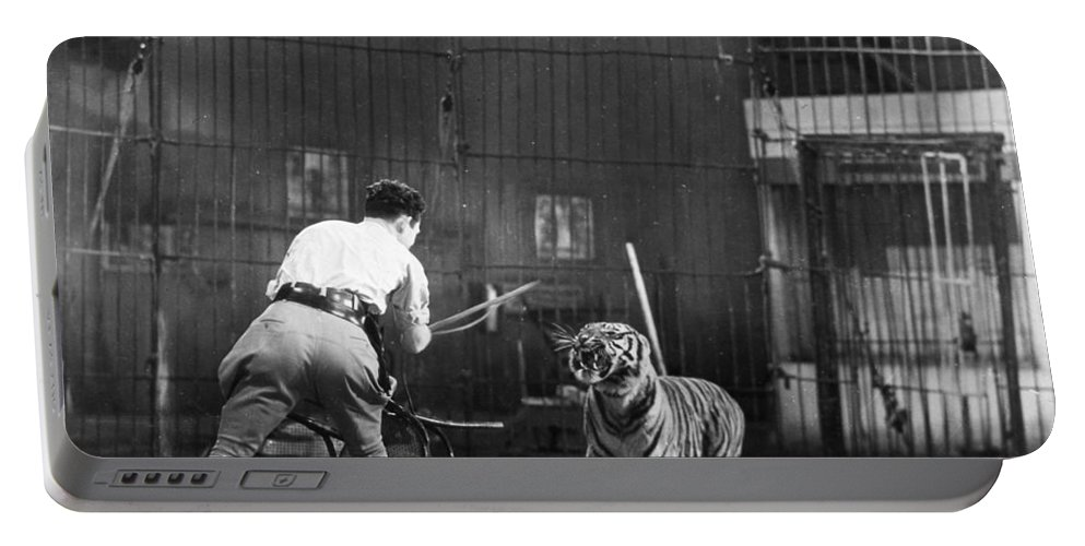 1930 Portable Battery Charger featuring the photograph Clyde Beatty (1903-1965) by Granger