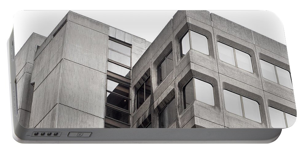 1960s Portable Battery Charger featuring the photograph Concrete Building by Tom Gowanlock