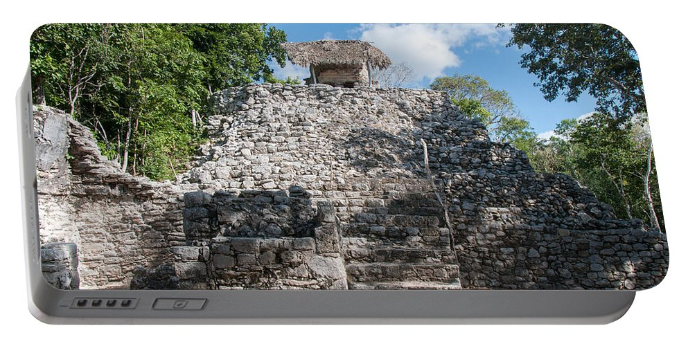 Mexico Quintana Roo Portable Battery Charger featuring the digital art Conjunto Pinturas At The Coba Ruins by Carol Ailles