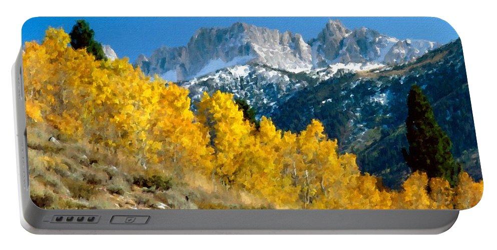 Landscape Portable Battery Charger featuring the digital art D C Landscape by Malinda Spaulding