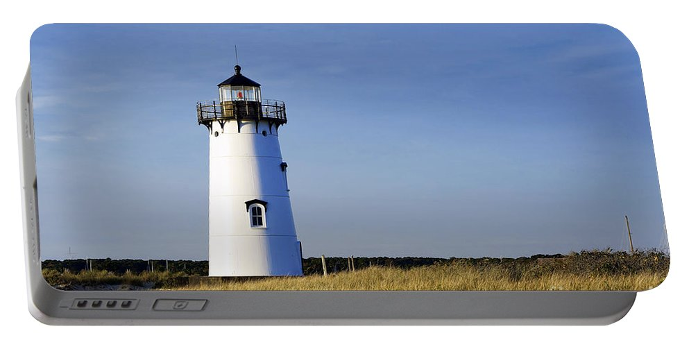 Martha's Vineyard Portable Battery Charger featuring the photograph Edgartown Lighthouse by John Greim