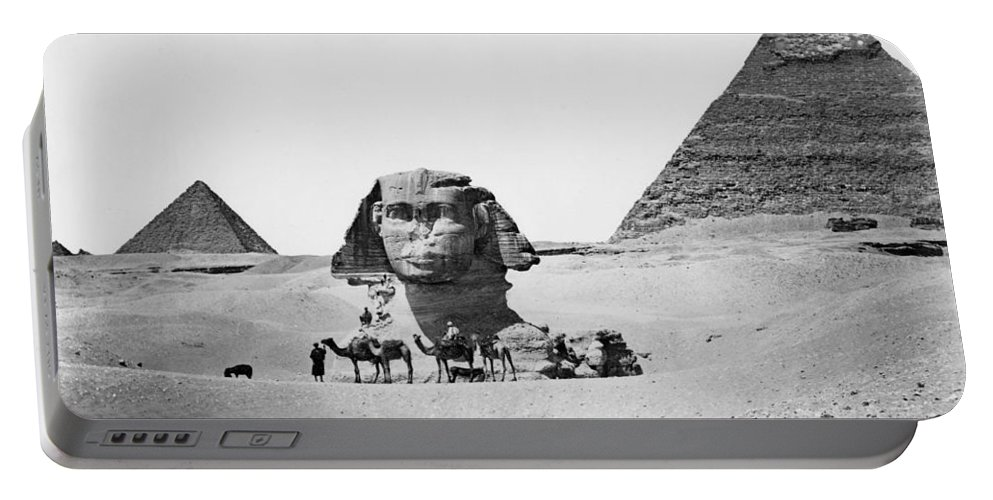 1890 Portable Battery Charger featuring the photograph Egypt: Great Sphinx by Granger