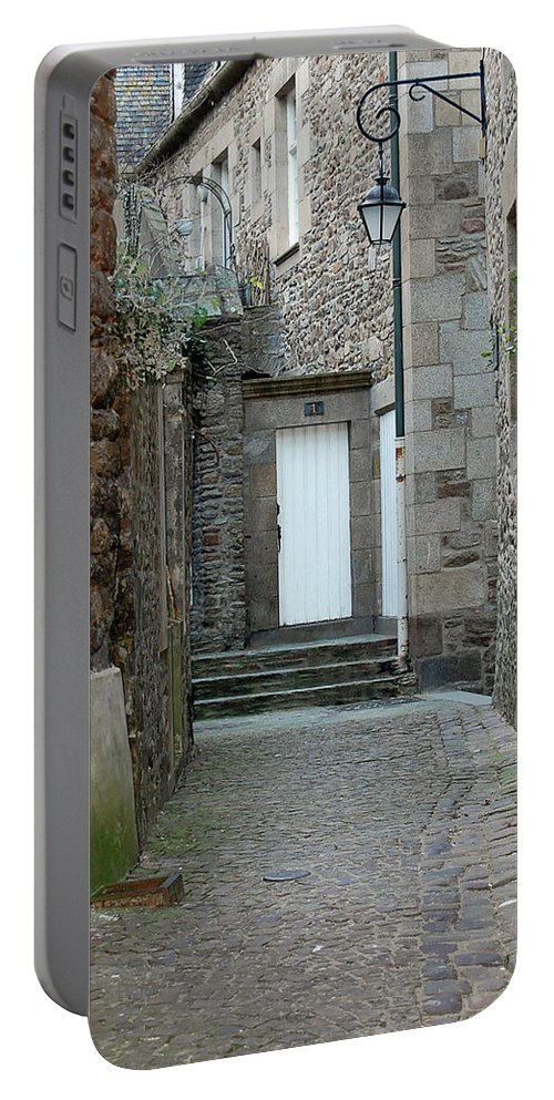 France Portable Battery Charger featuring the photograph French Doors by Mary Tuomi