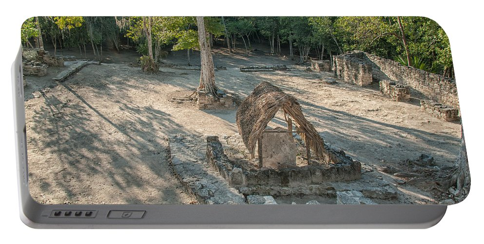 Mexico Quintana Roo Portable Battery Charger featuring the digital art Grupo Coba At The Coba Ruins by Carol Ailles