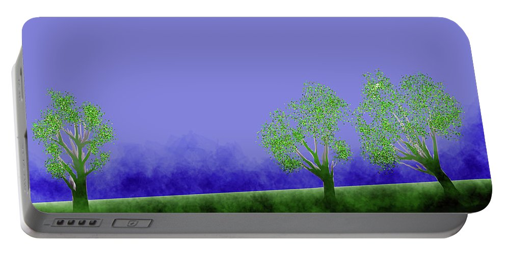 Portable Battery Charger featuring the digital art Landscape by Vijay Prakash